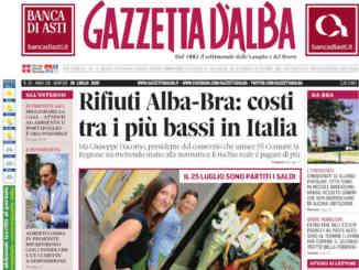 La copertina di Gazzetta d'Alba in edicola martedì 28 luglio