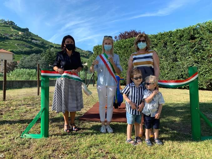 Un nuovo gioco al parco Corino di Santo Stefano Belbo
