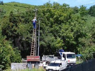Una zona di Corneliano senza corrente per quasi 24 ore a causa del maltempo