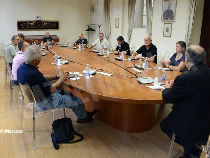 incontro vescovo Brunetti-Stamperia Miroglio