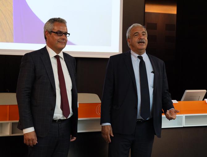 Giandomenico Genta Presidente FCRC e Paolo Biancone professore università di Torino