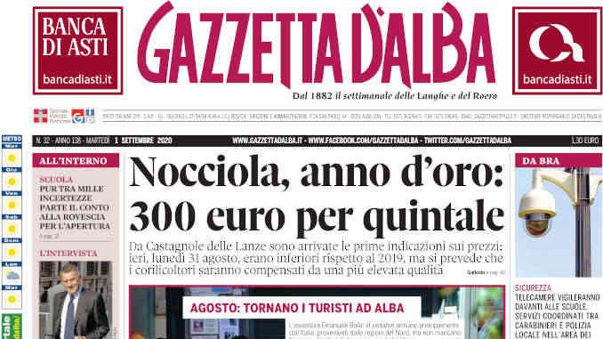 La copertina di Gazzetta d'Alba in edicola martedì 1° settembre