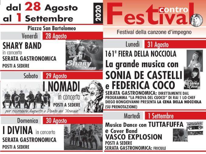 Castagnole: al festival Contro tanta musica e l'antica Fiera della nocciola
