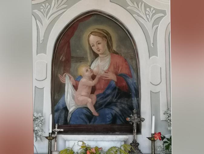 Affressco cappella Madonna della Neve