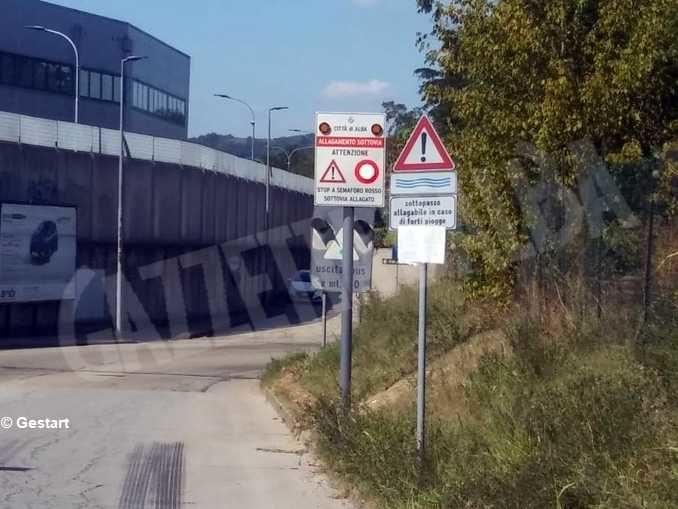 Sottopasso di corso Cillario, in caso di allagamento scatta il semaforo 1