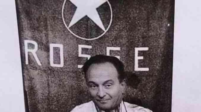 Volantini choc a Torino, Cirio in un fotomontaggio sovrapposto ad Aldo Moro