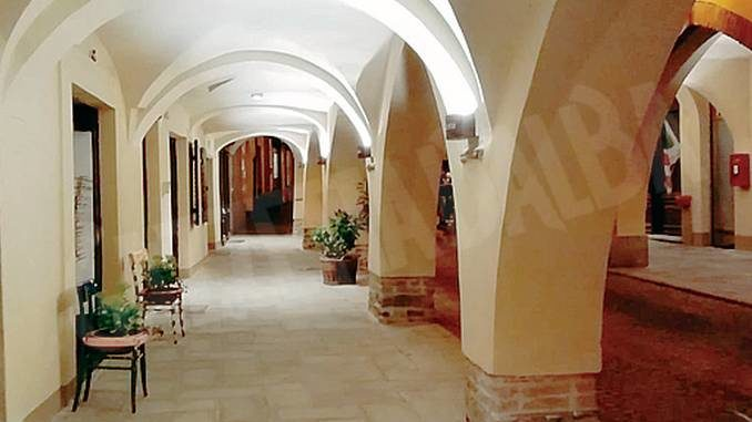 A Dogliani sono stati sistemati i portici di via Corte