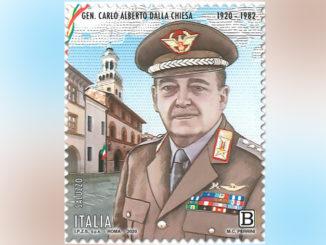 Carabinieri: un francobollo per il generale Dalla Chiesa