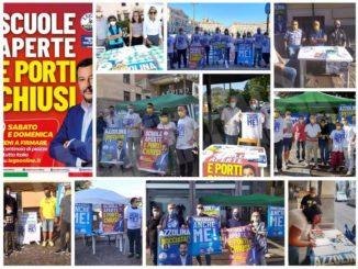 Migliaia di firme in Granda a sostegno di Salvini e contro Azzolina