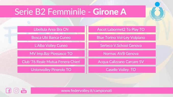 Pallavolo: la Serie B torna in campo il 7 novembre. L'Alba volley e Libellula Bra ai nastri di partenza