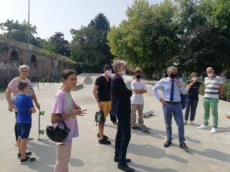 Incontro allo skatepark dell'H-Zone di Aba, Carlo Bo: «per la recinzione potremo sbloccare i fondi necessari già con la prossima variazione di bilancio» 1