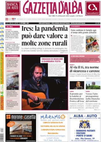 La copertina di Gazzetta d'Alba in edicola martedì 8 settembre