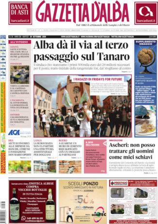 La copertina di Gazzetta d'Alba in edicola martedì 29 settembre 1