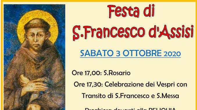 Le Clarisse celebrano la festa liturgica di san Francesco d'Assisi