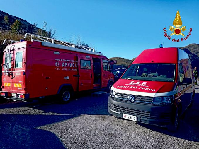 Vigili del fuoco del comando di Cuneo intervento a Limone Piemonte