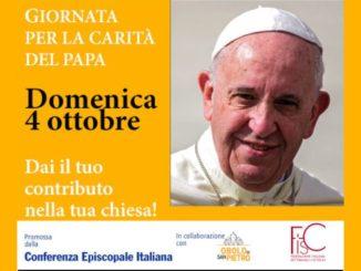 Domenica 4 ottobre è la Giornata per la carità del Papa
