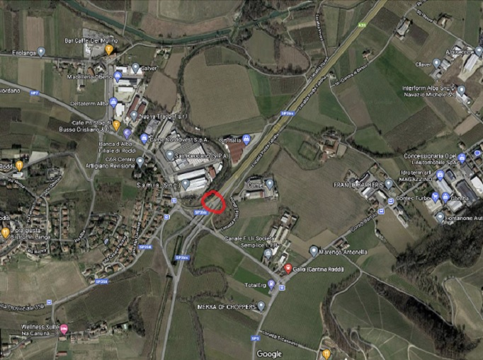 mappa incidente stradale ore 19.00 del 27settembre2020