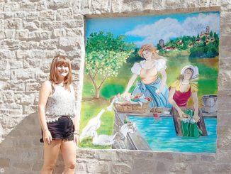 Un dipinto ha abbellito lo storico lavatoio in pietra di Niella Belbo