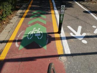Bra, pista ciclabile del viale Madonna dei Fiori rinnovata e raddoppiata