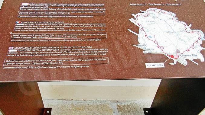 Realizzati due percorsi turistici nei luoghi della battaglia di Ceresole