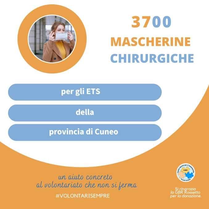 Un aiuto al volontariato: l'azienda Gbr Rossetto dona 3.700 mascherine al Csv Società solidale