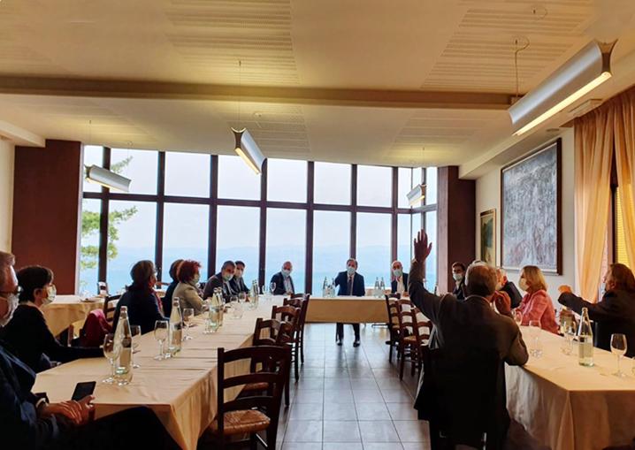 Francesco Boccia incontra amministratori locali provinciali regionali Partito Democratico a Guarene