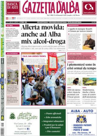 La copertina di Gazzetta d'Alba in edicola martedì 6 ottobre