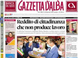 La copertina di Gazzetta d'Alba in edicola martedì 13 ottobre