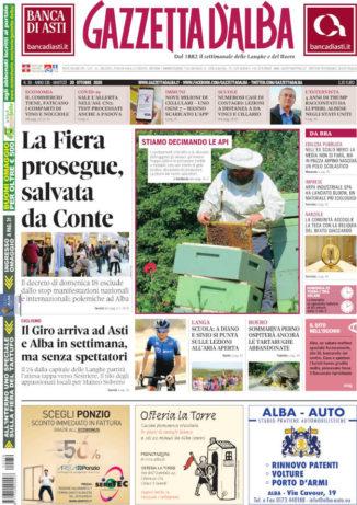 La copertina di Gazzetta d'Alba in edicola martedì 20 ottobre