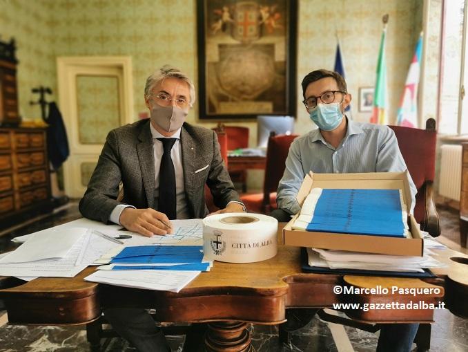 Il sindaco Carlo Bo e l'assessore Emanuele Bolla
