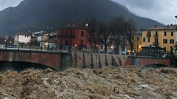 Nubifragio in valle Tanaro, a Limone in un giorno già oltre 400 millimetri di pioggia