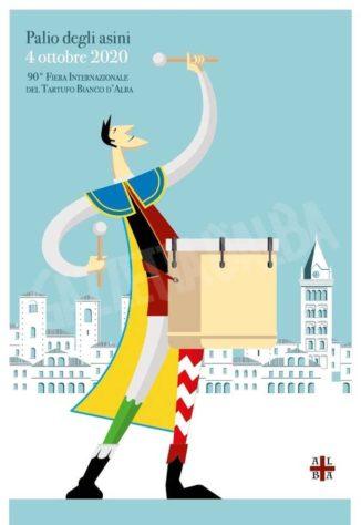 Una serie di cartoline illustrate per il Palio degli asini 2020 1