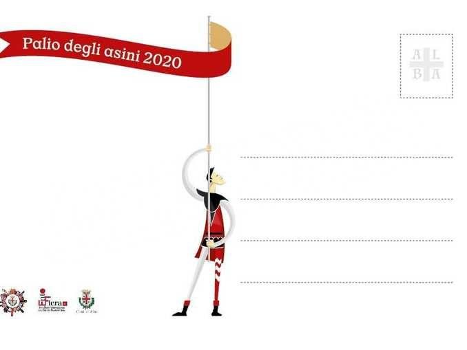 Una serie di cartoline illustrate per il Palio degli asini 2020 2