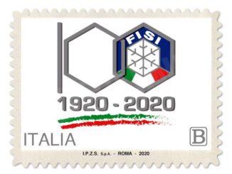 Poste italiane dedica un francobollo alla Federazione italiana sport invernali