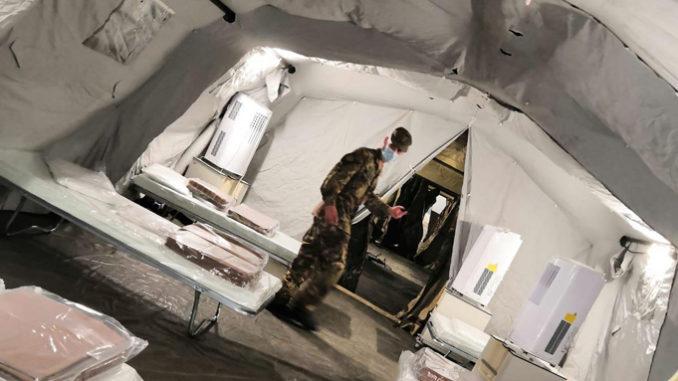 Aggiornamento sull' allestimento di tensostrutture presso gli ospedali in Piemonte