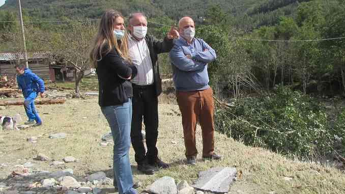 Marello in visita ai comuni alluvionati dell'alta Valle Tanaro:«Abbiamo il dovere di aiutarli».