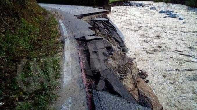 Alluvione: sono ancora chiuse nove strade provinciali
