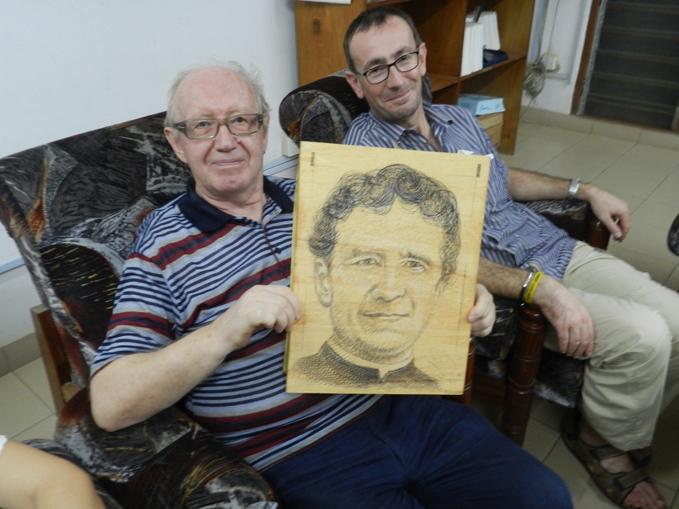 Don Vincenzo Marrone nella casa salesiana di Ibadan fondata da lui