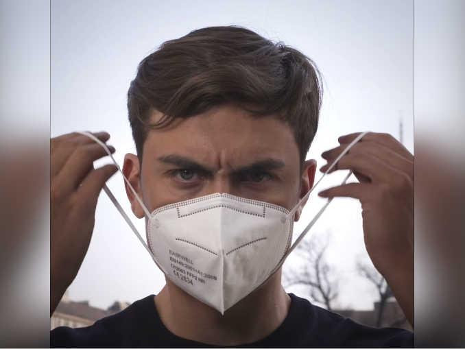 Dybala mascherina regione