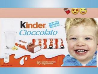 L'influencer Chiara Ferragni sogna di vedere sulla confezione delle barrette Kinder il volto del suo bimbo