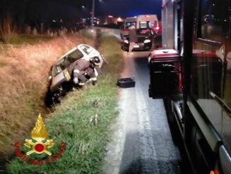 Incidente stradale tra Beinette e Margarita: auto si ribalta dopo un tamponamento