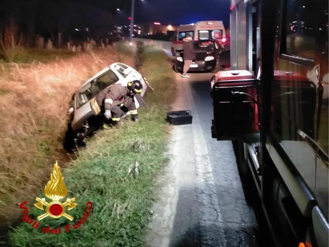 Incidente stradale all'incrocio tra Beinette e Margarita