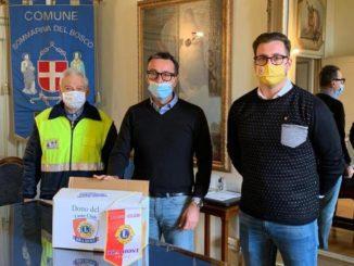 Un aiuto al volontariato: il Lions club Bra Host dona 200 mascherine alla Protezione ci Csv Società solidale