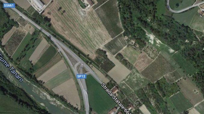 Progetto esecutivo della Provincia di Cuneo per la rotatoria di Novello
