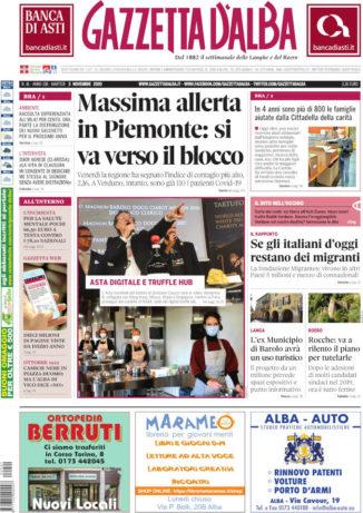 La copertina di Gazzetta d'Alba in edicola martedì 3 novembre