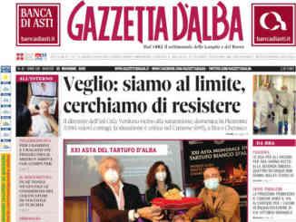 La copertina di Gazzetta d'Alba in edicola martedì 10 novembre
