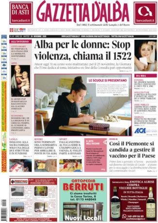 La copertina di Gazzetta d'Alba in edicola martedì 24 novembre