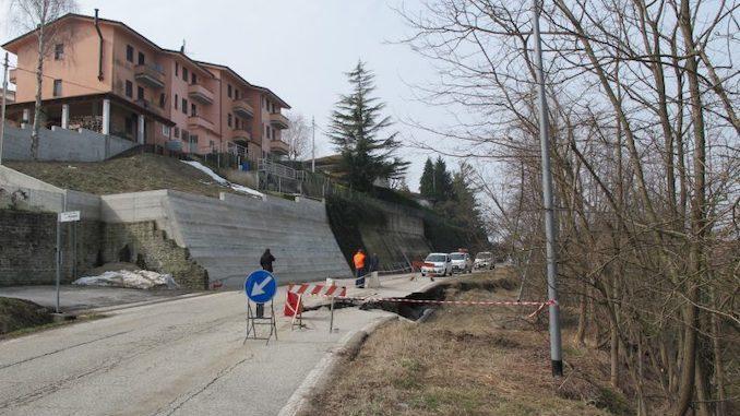 Progetto definitivo per sistemazione della frana lungo la provinciale a Benevello