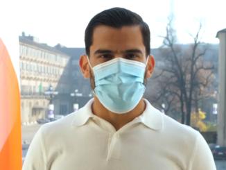 Tomas Rincon al fianco della Regione Piemonte nella campagna sull'uso della mascherina