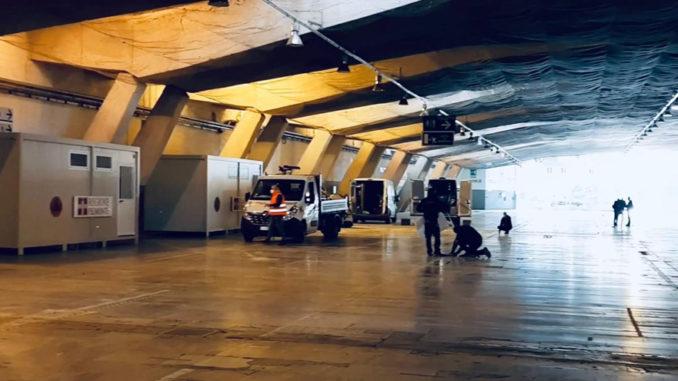 Emergenza Covid: avanzamento lavori area sanitaria V Padiglione Torino Esposizioni (FOTO e VIDEO) 2